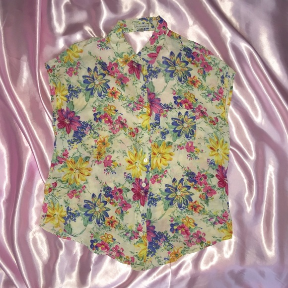 70 off urban outfitters tops floral button up cut out for Adidas floral shirt urban outfitters