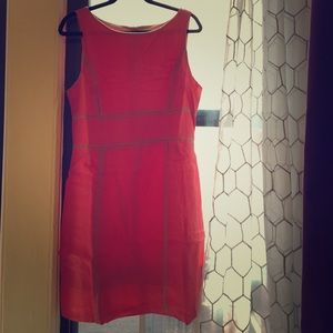 Kenar Dresses & Skirts - Coral Linen Sheath Dress