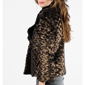 ALICE + OLIVIA Masha Faux Fur Jacket