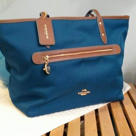 d2974837dd3 Coach Bags   One Hour Sale Sawyer Tote Nwt Blue   Poshmark