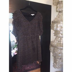 Silk patterned dress (Madewell)