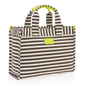 henri bendel Handbags - Henri Bendel Signature Stripe Canvas Mini Tote