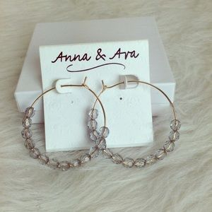 🆕LISTING Anna & Ava Gold Hoops with Gray Beads