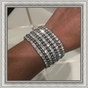 Silver Bling stretch bracelet
