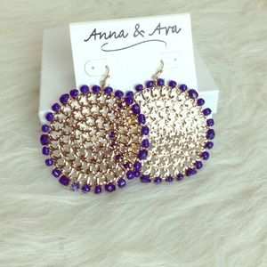🆕LISTING Anna & Ava Gold Earrings with Blue Beads