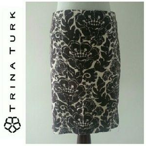 Trina Turk Dresses & Skirts - Trina Turk Brown and White Skirt