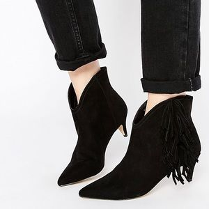 ASOS Shoes - ASOS Roll Around Suede Western Fringe Ankle Boots