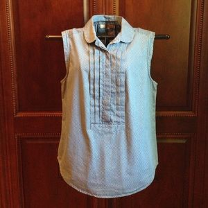 Loft Top blue with white dots Sz Med