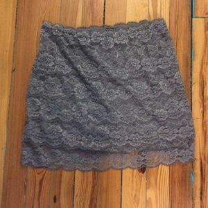 Dresses & Skirts - Grey Lace Skirt