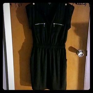 XOXO Black Sheath Dress with Gold Details