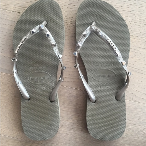 2a11cc2afe08 Havaianas Shoes - Havaianas studded thong sandals