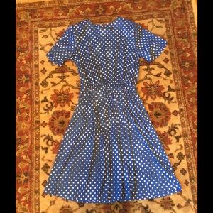 1980's polka dot dress