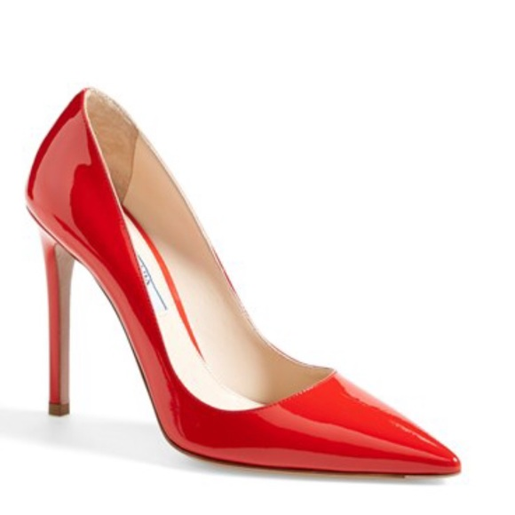 33 off prada shoes new prada pointy toe red heels from
