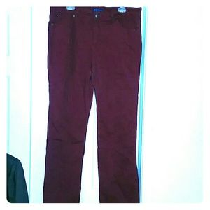 Reposh Burgundy boot cut jeans