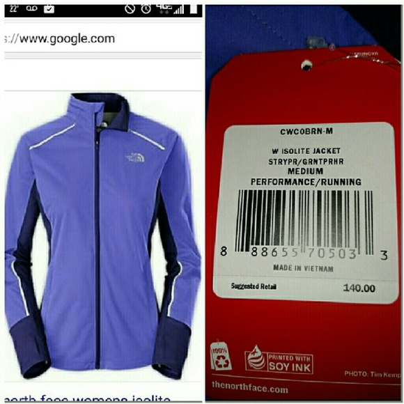 7d935e6f39 North Face Isolite Running Jacket M