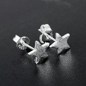 Jewelry - Minimalist Frosted Star Earrings