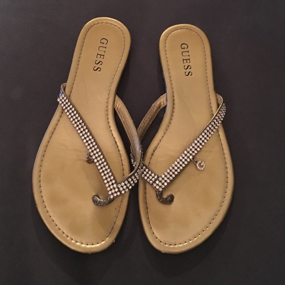 9e6fba790424 Guess Shoes - Guess Sandals with rhinestones   cute G charms.