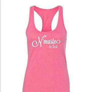Salt Lake Clothing Tops - N'maste In Bed Racerback Tank!!