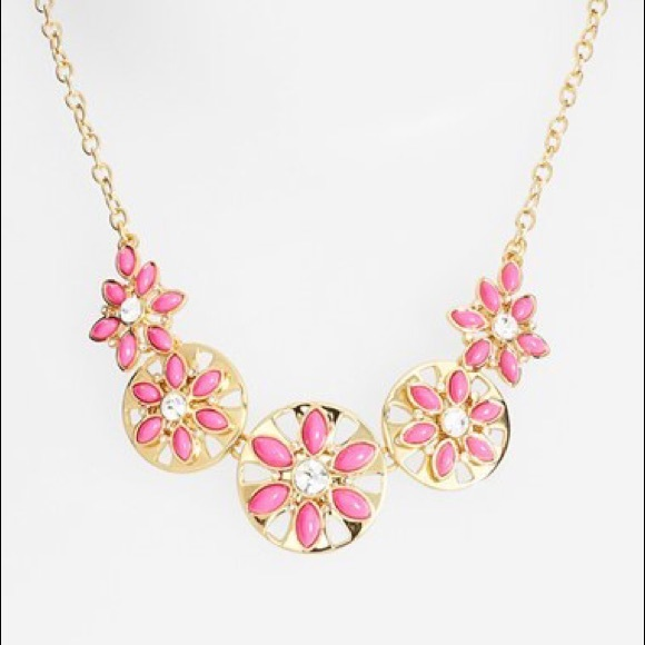 Kate spade jewelry pink flower necklace poshmark kate spade pink flower necklace mightylinksfo