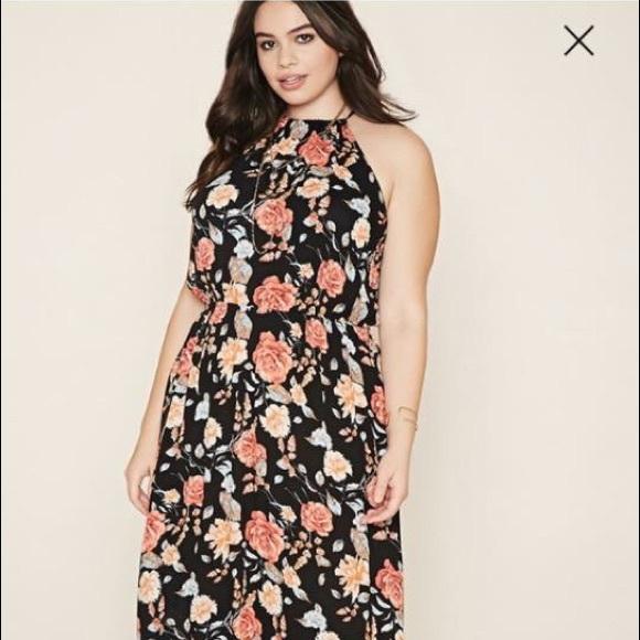 2f5de212563 Forever21 plus-size floral maxi dress