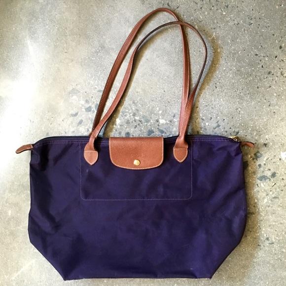 4b1f05a87112 Longchamp Handbags - Longchamp Large Le Pliage Tote in Bilberry Purple