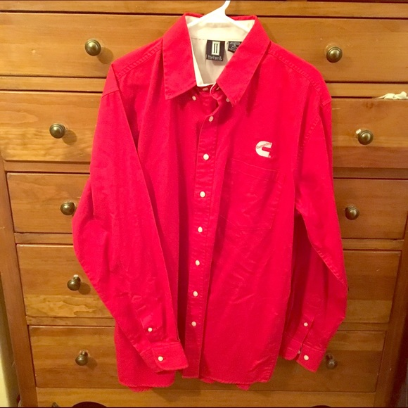 82 off hartwell other men 39 s xl cummins diesel button up dress shirt red from ryne 39 s closet on for Mens red button up dress shirt