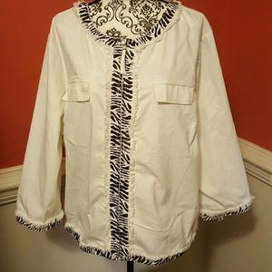 AMI Jackets & Blazers - NWT White and black jacket by AMI size 2X