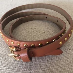 J CREW Brown Studded Belt