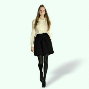 Shipley & Halmos Dresses & Skirts - SHIPLEY & HALMOS black full structured skirt