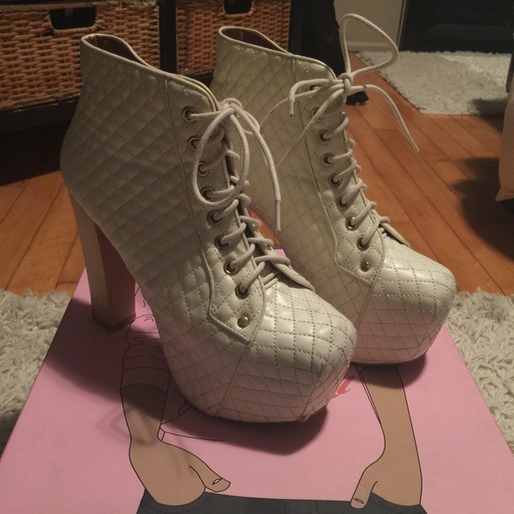 54 off jeffrey campbell shoes jeffrey campbell lita quilted booties from nicole 39 s closet on. Black Bedroom Furniture Sets. Home Design Ideas