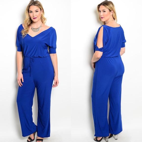 Boutique Pants Clearance Plus Size Royal Blue Jumpsuit Poshmark