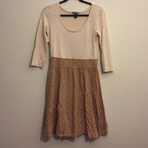 H & M Tan, Orange, Grey Dress