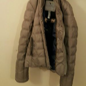 Abercrombie & Fitch jacket brown hood removable S