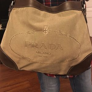 White Prada shoulder bag on Poshmark