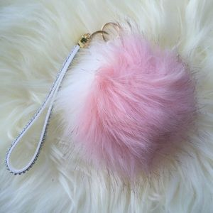 Pink and White Fur Ball