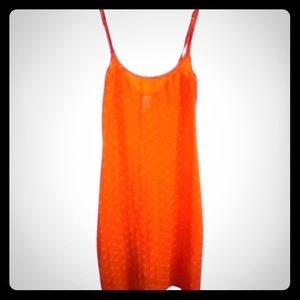 Moschino Lingerie sheer orange heart slip!