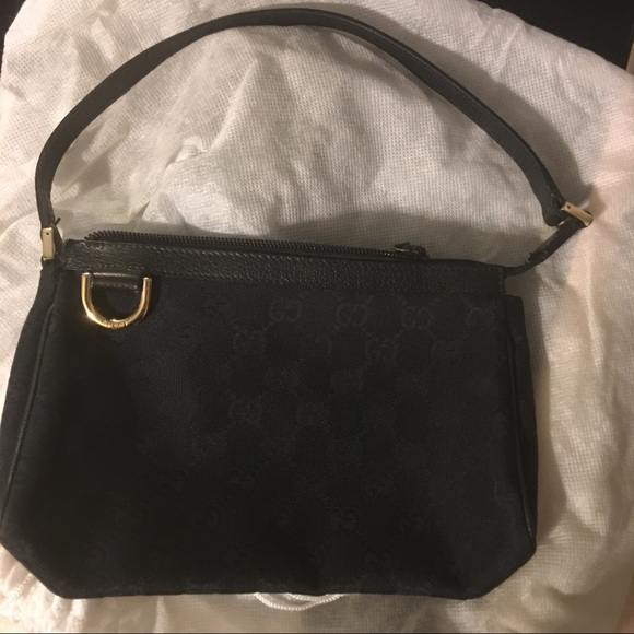 11c7b9991 Gucci Bags | Signature Canvas Abbey D Ring Pochette Bag | Poshmark