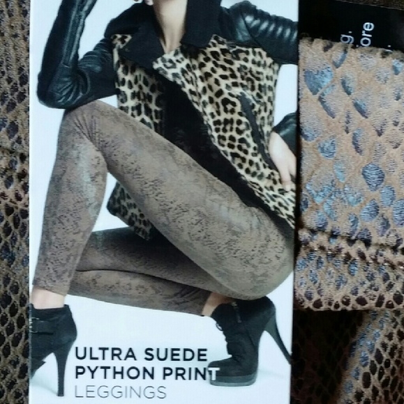 d8c66de11c677d HUE Pants | Ultra Suede Python Print Leggings | Poshmark