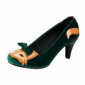 ISO these green T.U.K. heels. Sz 9 or 10