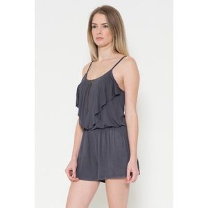 Dresses & Skirts - 1 HOUR SALE!! Front Ruffle Romper