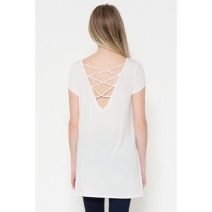 Tops - Cap Sleeve Strappy Top