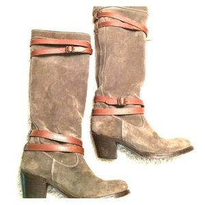 77 frye shoes frye boots suede leather authentic