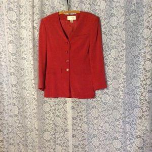 Evone Picone Jackets & Blazers - 100% silk red jacket