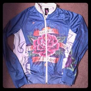 very silky Ed Hardy jacket. Super cute!!! 