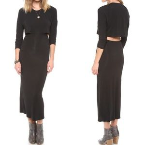Riller & Fount Dresses & Skirts - RILLER & FOUNT JERSEY CUT OUT MAXI 3  L