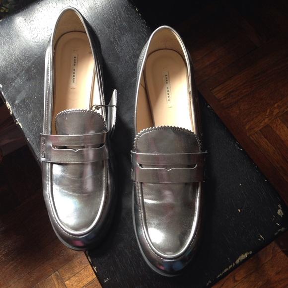 29bb6447206 Zara metallic loafers