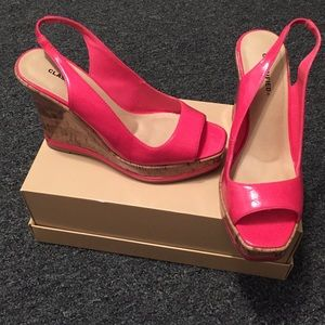 Classified Shoes - SALE Patent leather look wedges