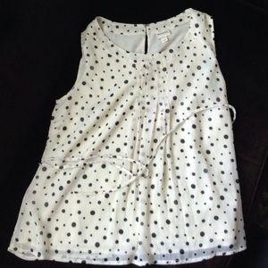 Merona flirty polka dot blouse
