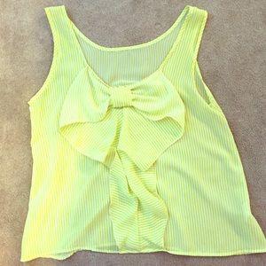 Stripped sleeveless blouse