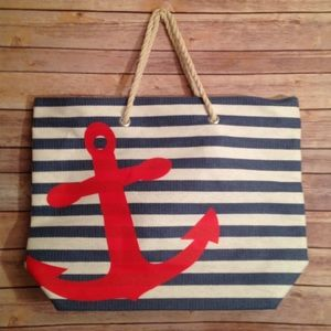 Handbags - NWT, Nautical Beach Tote Bag